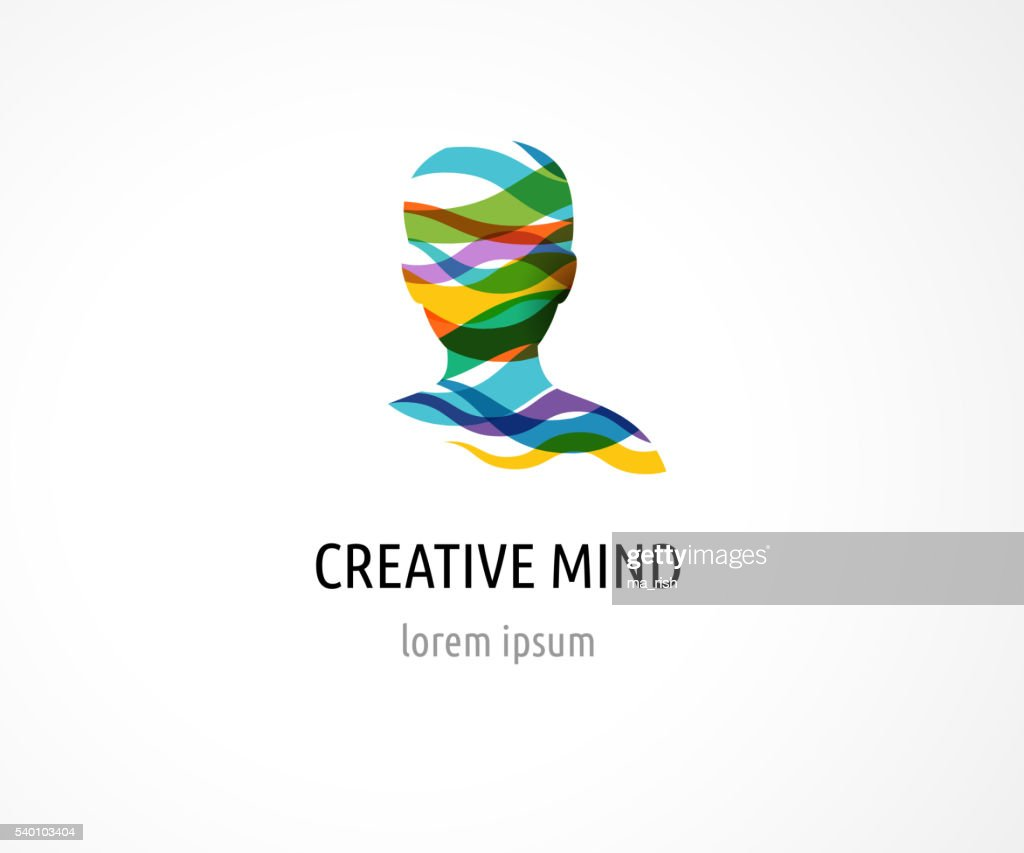 Brain, Creative mind, man head, learning and design icons