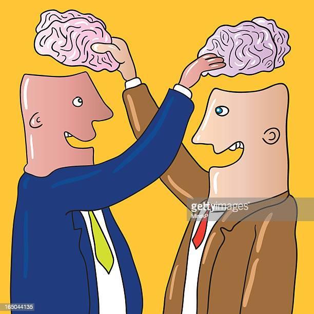 brain exchange - neurosurgery stock illustrations, clip art, cartoons, & icons