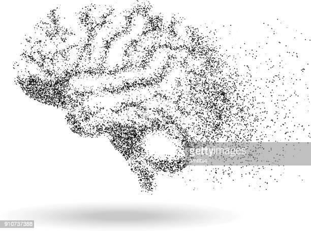 brain particles - dust stock illustrations