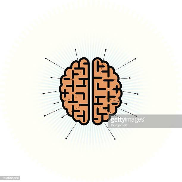 brain pin - acupuncture stock illustrations, clip art, cartoons, & icons