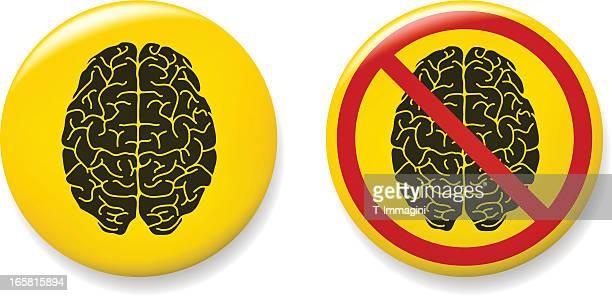 brain pins - brooch stock illustrations