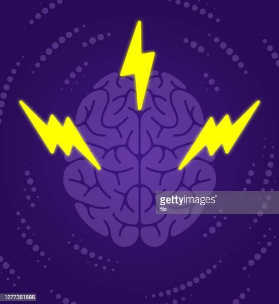 脳力思い込み稲妻コンセプト - ヒステリー点のイラスト素材/クリップアート素材/マンガ素材/アイコン素材