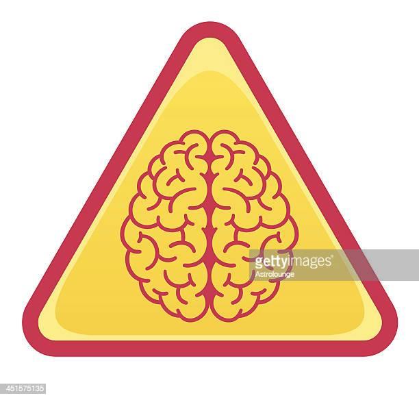 brain sign - frontal lobe stock illustrations, clip art, cartoons, & icons