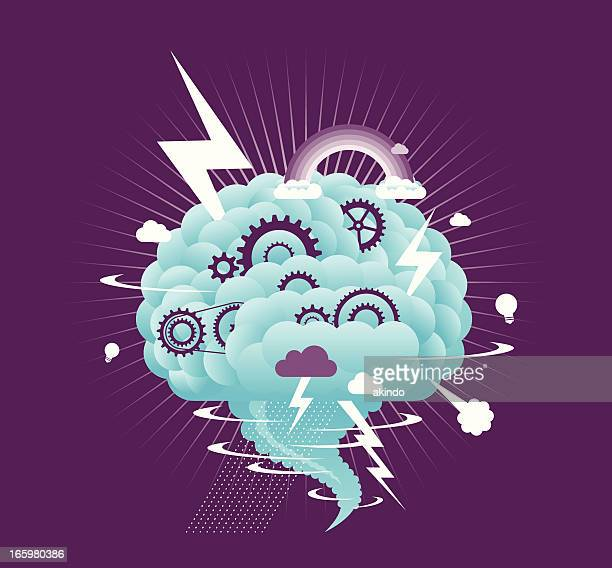 brain storm - emotion stock illustrations