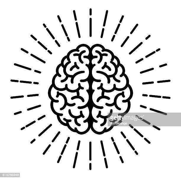brain symbol - brain stock illustrations