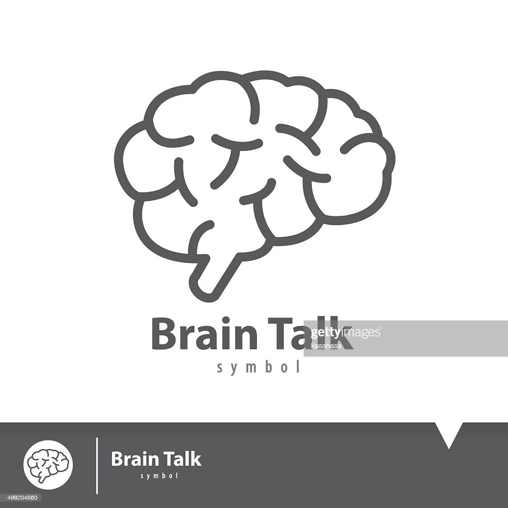 Brain talk icon symbol