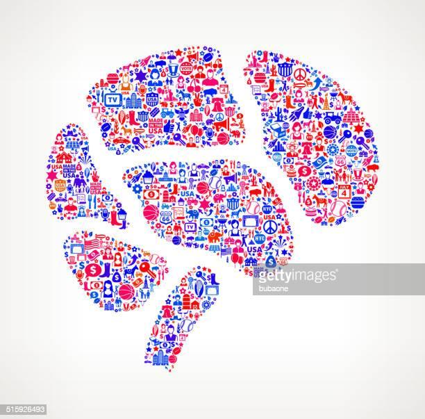 Brain US royalty free vector art Pattern
