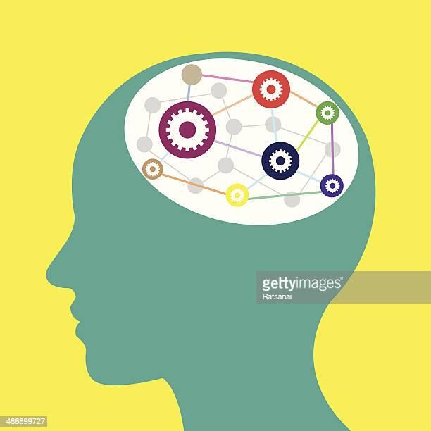 stockillustraties, clipart, cartoons en iconen met brain - ziekte van alzheimer