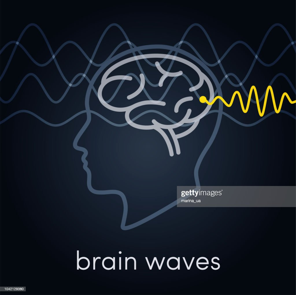 Brain waves vector icon