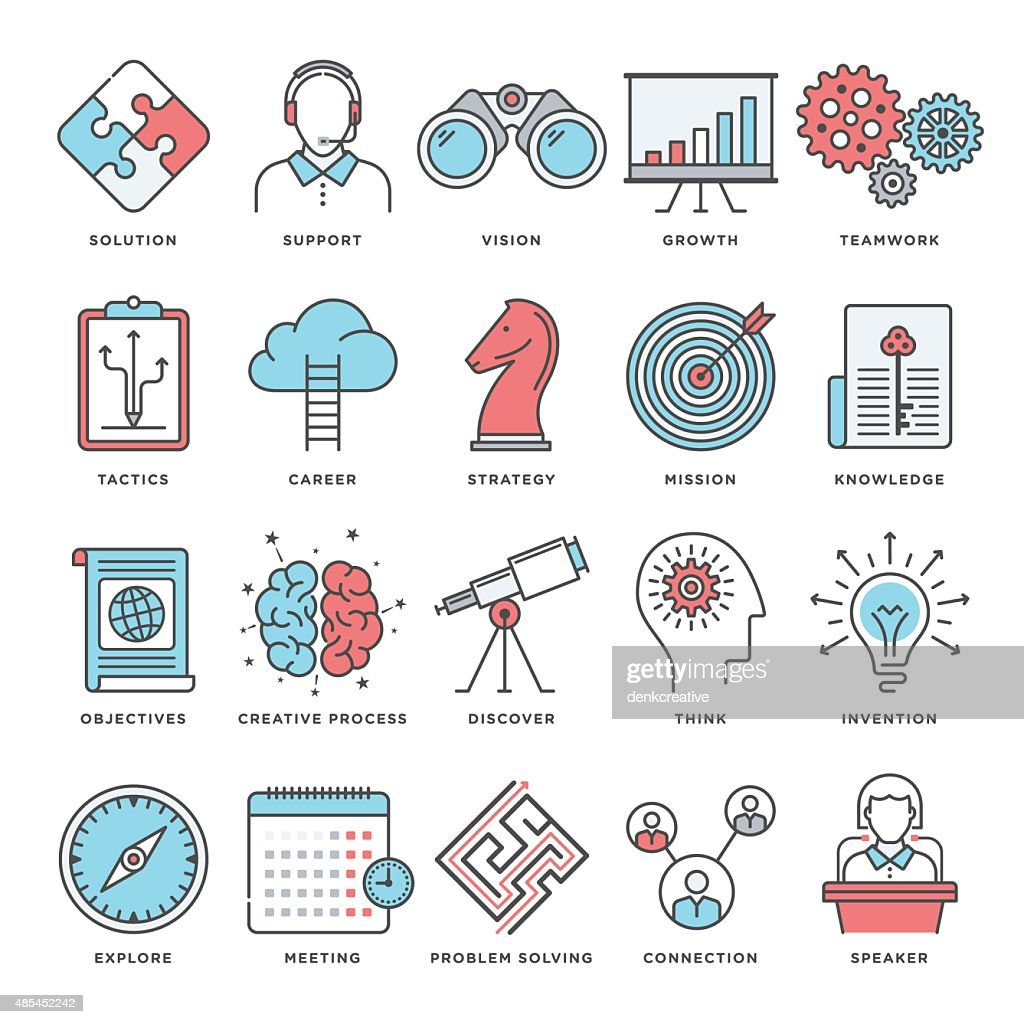 Brainstorming and Productivity Icons
