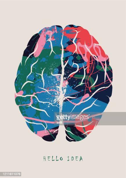 illustrazioni stock, clip art, cartoni animati e icone di tendenza di brainstorming, brain concept - illustrazione vettoriale - spremersi le meningi