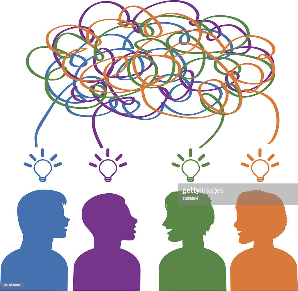 brainstorming stock vector getty images