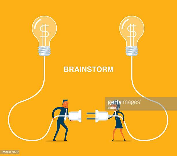 brainstorming - steel cable stock illustrations, clip art, cartoons, & icons
