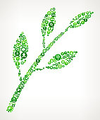 Branch & Leafs Nature and Environmental Conservation Icon Pattern