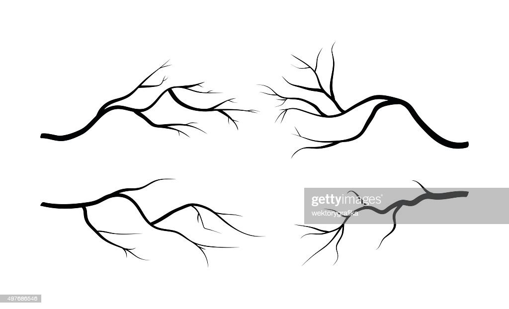 branch silhouette icon, symbol, design. vector