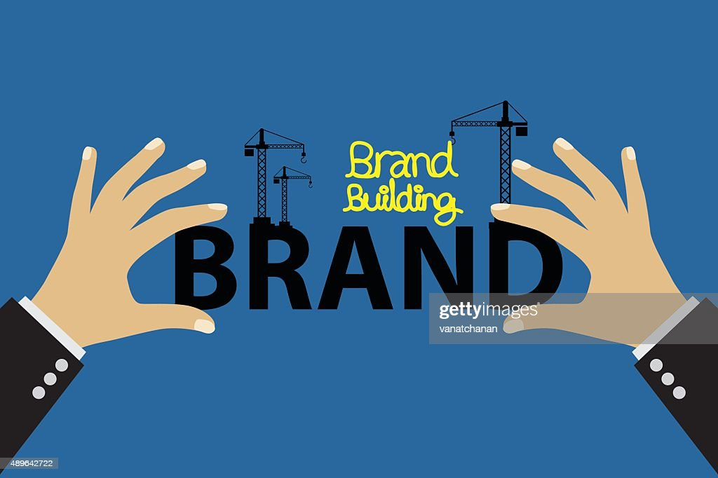 Brand building concept vector illustration.