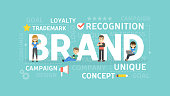Brand concept illustration.