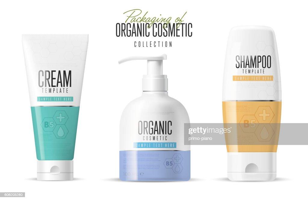 Brand concept organic cosmetics. Vector template
