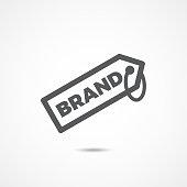Brand icon on white