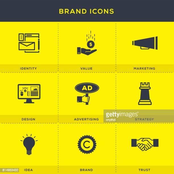 Marke Icons Set