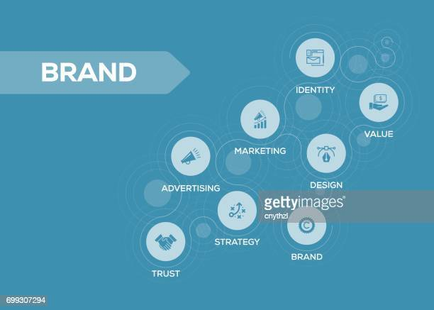 brand icons with keywords - time line stock illustrations, clip art, cartoons, & icons