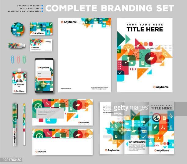 ブランド id セット - 文房具点のイラスト素材/クリップアート素材/マンガ素材/アイコン素材