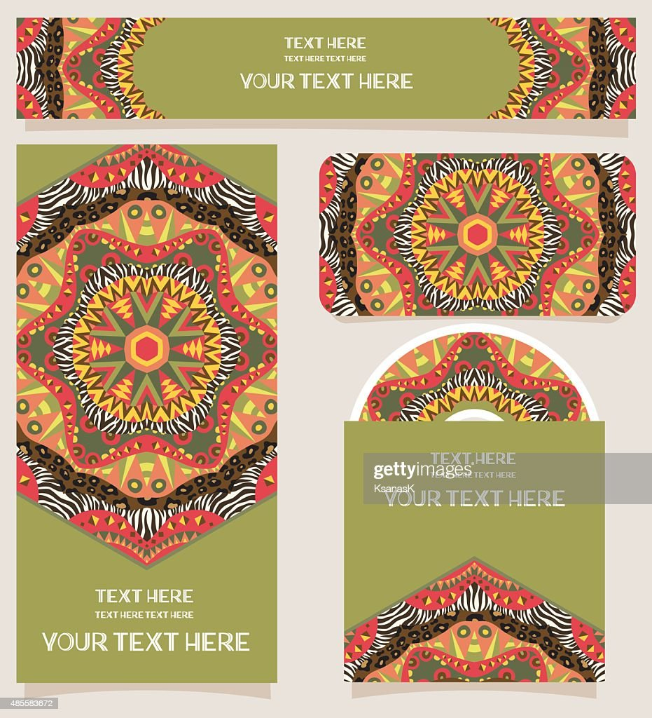 Branding Design African Theme Ornaments