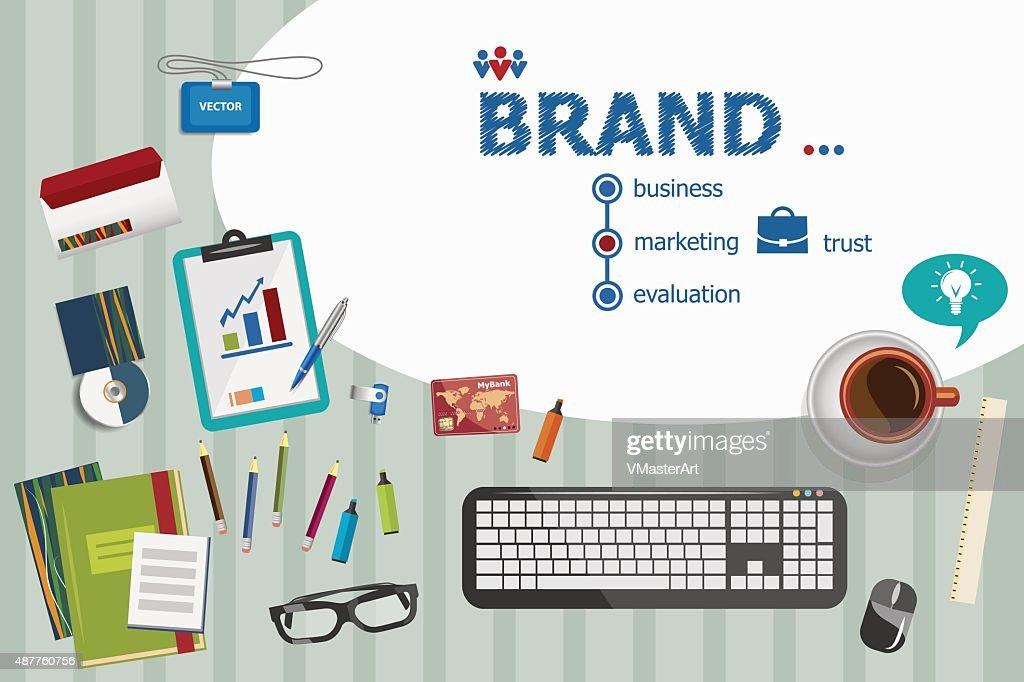 Branding design and flat design illustration concepts for busine