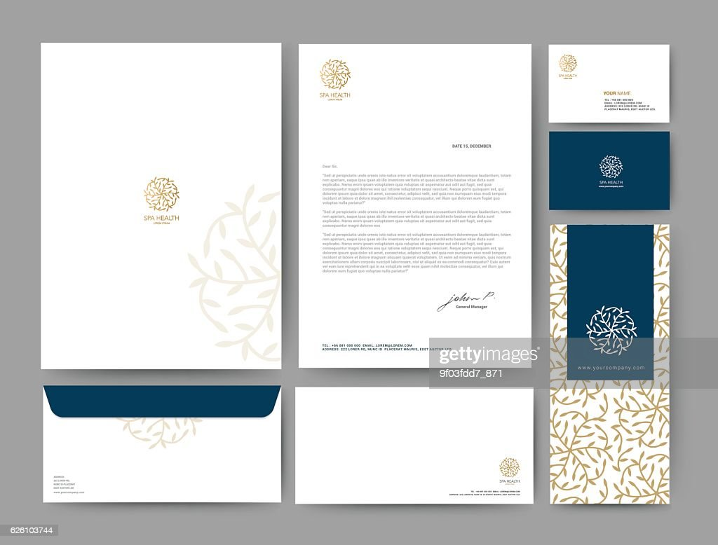 Branding identity template corporate company design, Set for bus