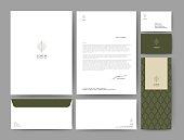 Branding identity template corporate company design, Set for business hotel, resort, spa, luxury premium logo, vector illustration
