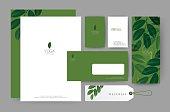 Branding identity template corporate company design, Set for business hotel, resort, spa, luxury premium icon, vector illustration