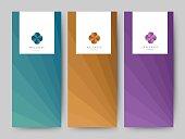Branding Packaging abstract background, logo banner voucher, vector illustration