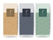 Branding Packaging Flower nature background, logo banner voucher, spring summer tropical, vector illustration