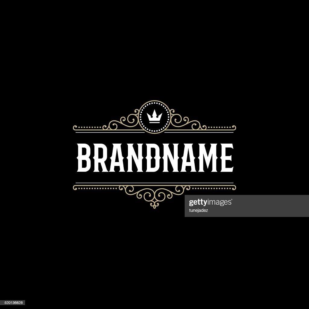 Brandname black background
