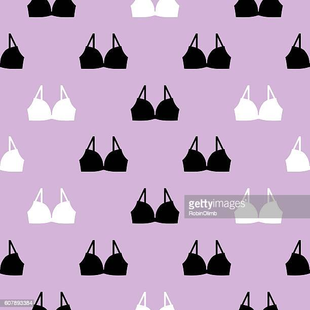 bras seamless pattern - bra stock illustrations, clip art, cartoons, & icons