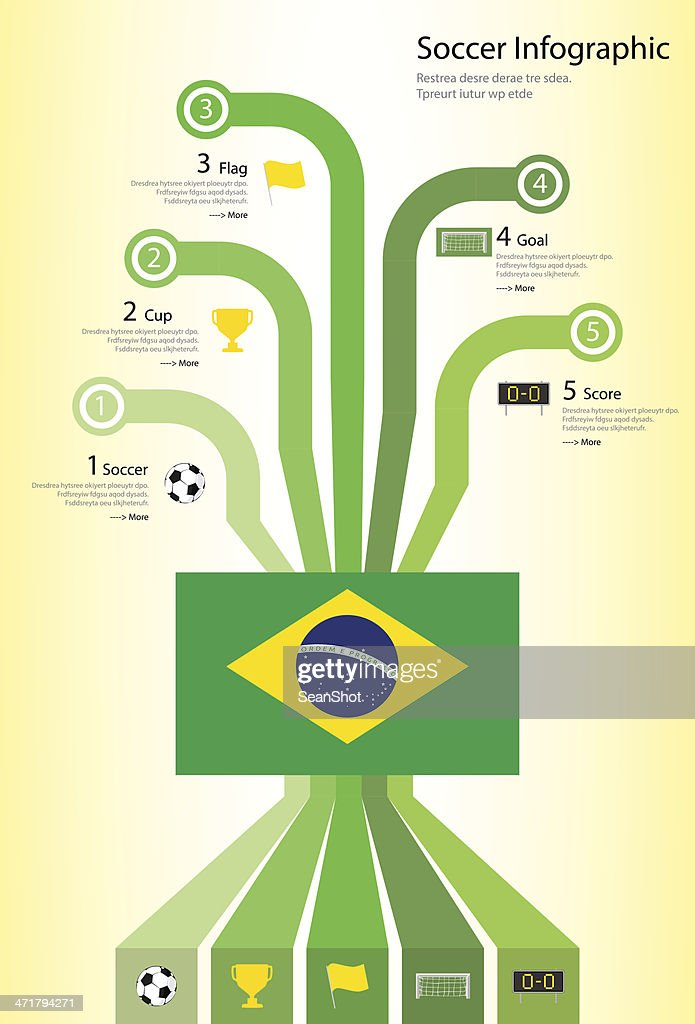 Brasil Soccer Infographic : Vector Art