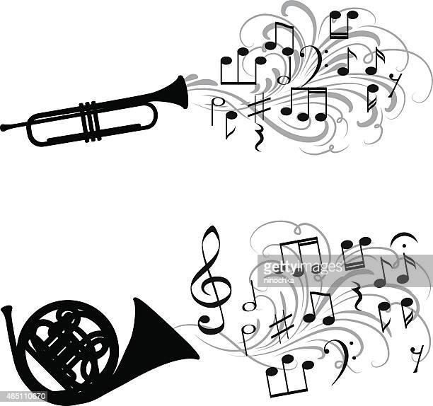 brass music - jazz stock illustrations, clip art, cartoons, & icons