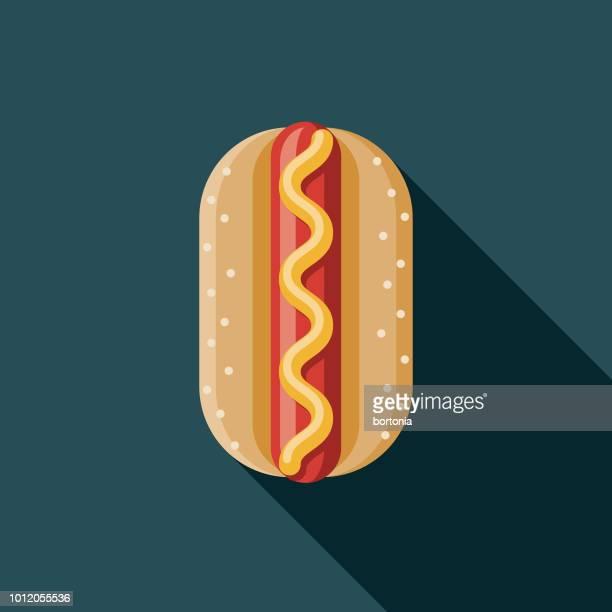 bratwurst-flachen design-deutschland-ikone - bratwurst stock-grafiken, -clipart, -cartoons und -symbole