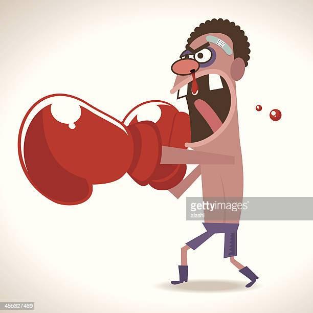 brave boxer fight - knockout stock illustrations