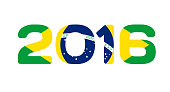 Brazil 2016 Abstract Colorful Background