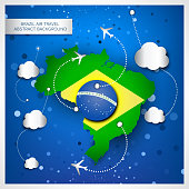 Brazil air travel abstract background