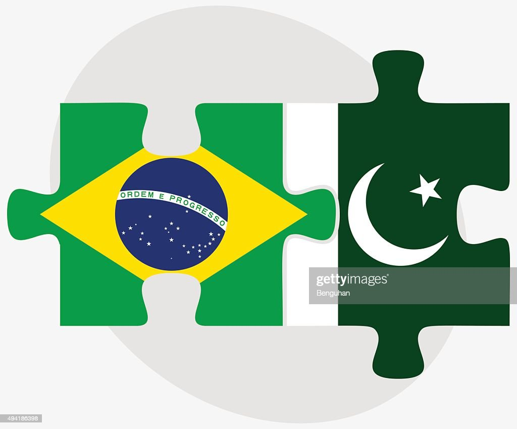 Brazil and Pakistan Flags
