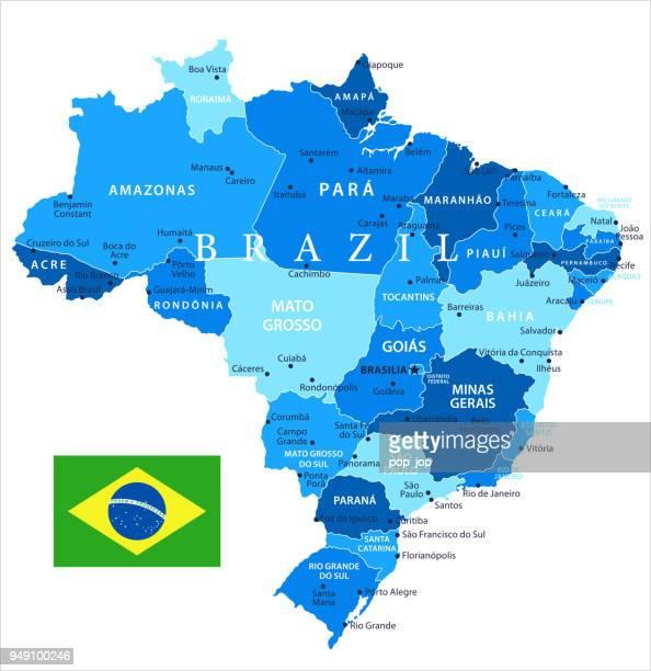 04 - ブラジル - ブルー スポットの分離 10 - ゴイアス州点のイラスト素材/クリップアート素材/マンガ素材/アイコン素材