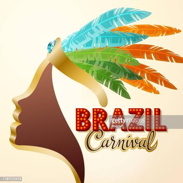 brazil carnival samba parade - samba stock illustrations