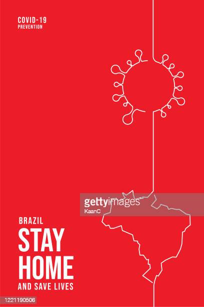 brazil concept. covid-19 outbreak influenza as dangerous flu strain cases as a pandemic concept banner flat style illustration stock illustration - brazil stock illustrations