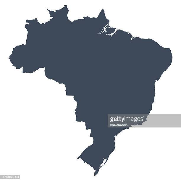 stockillustraties, clipart, cartoons en iconen met brazil country map - brazilië