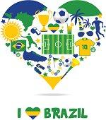 Brazil fan heart