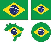 Brazil flag and map