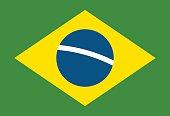 Brazil flag vector illustration