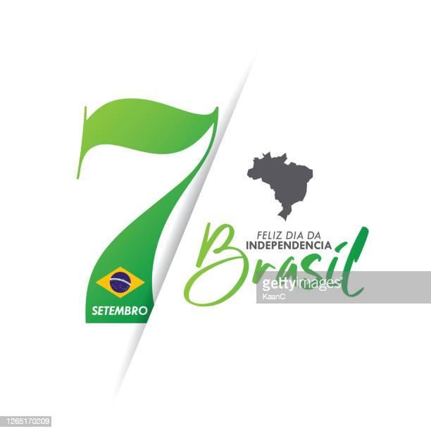 brasilien unabhängigkeitstag grußkarte. bestandsabbildung - september stock-grafiken, -clipart, -cartoons und -symbole